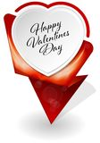 Valentines Day infographic banner Stock Photo