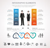 Valentines day infographics design Stock Images