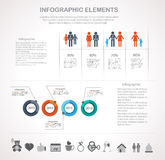Valentines day infographics elements Royalty Free Stock Images