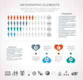 Valentines day infographics template design Stock Photo