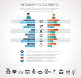 Valentines day infographics template and icons Stock Photo