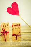 Valentines day inscription with love Royalty Free Stock Images
