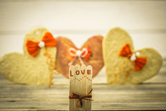 Valentines day inscription with love Royalty Free Stock Photo