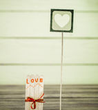 Valentines day inscription with love Stock Photography
