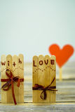 Valentines day inscription with love Stock Image