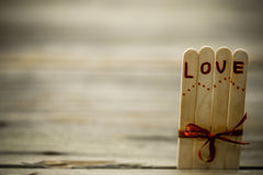 Valentines day inscription with love Royalty Free Stock Photography