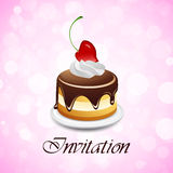 Valentines Day Invitation Stock Photo