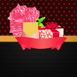 Valentines day invitation card Stock Image