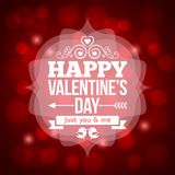 Valentines day invitation design background Stock Image