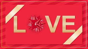 Valentines Day invitation flyer background. Stock Photography