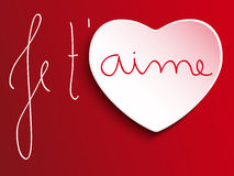 Valentines Day Je taime Heart Royalty Free Stock Images