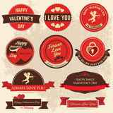 Valentines day Label Royalty Free Stock Images