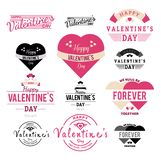 Valentines Day Label and Ribbon Collection illustration - Vector stock illustration