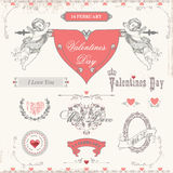 Valentines day labels, icons elements collection Royalty Free Stock Photography