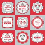 Valentines day labels tags decorative items Stock Photo