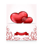 Valentines day letter with hearts Stock Images