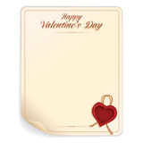 Valentines Day Letter with Seal Royalty Free Stock Photography