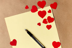 Valentines day letter writing Royalty Free Stock Image