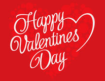 Valentines Day Lettering Background Stock Photos