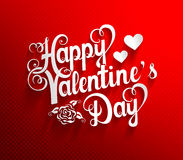 Valentines Day lettering background Stock Photography