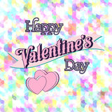 Valentines Day Lettering Card. Happy Valentines Day Lettering Greeting Card Illustration Stock Photography