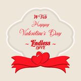 Valentines Day Lettering Card. Happy Valentines Day Lettering Greeting Card Illustration Stock Photo