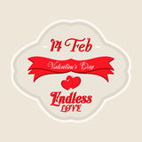 Valentines Day Lettering Card. Happy Valentines Day Lettering Greeting Card Illustration Stock Images