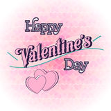 Valentines Day Lettering Card. Happy Valentines Day Lettering Greeting Card Illustration Royalty Free Stock Images
