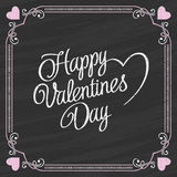 Valentines Day Lettering on a Chalkboard Background Royalty Free Stock Photo
