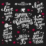Valentines Day lettering Stock Images