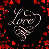 Valentines day  lettering greeting card Stock Photo