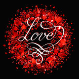 Valentines day  lettering greeting card Stock Photography