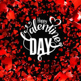 Valentines day  lettering greeting card Royalty Free Stock Images