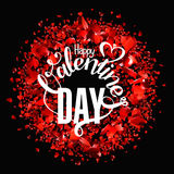 Valentines day  lettering greeting card Stock Photos