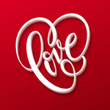 Valentines Day Lettering Love. Vector illustration Stock Photography