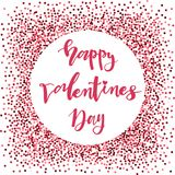 Valentines day lettering set made for postcard and greeting sign message decoration. stock illustration