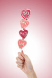 Valentines Day Lollipop Stock Photos