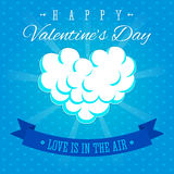 Valentines Day Love is in the air greeting card Stock Photos