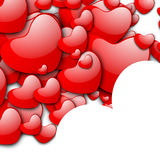 Valentines Day love background. With red hearts on white. EPS 10 Stock Photography