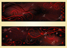Valentines day love banners Stock Photography