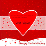 Valentines day love card. To send before 14th of february to you lover Royalty Free Stock Images