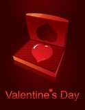 Valentines Day love casket Royalty Free Stock Image
