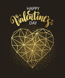 Valentines day love greeting card with geometric Stock Photos
