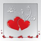 Valentines Day, love, greetings card, composition Royalty Free Stock Photography