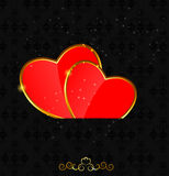 Valentines day love heart backgroung, vector Royalty Free Stock Images