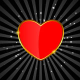 Valentines day love heart backgroung, vector Stock Photo