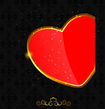 Valentines day love heart backgroung, vector Royalty Free Stock Photography