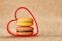 Valentines Day, Love. Heart.Macaron french dessert Stock Photography