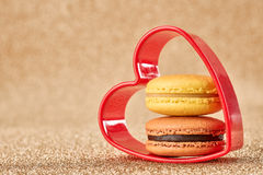 Valentines Day, Love. Heart.Macaron french dessert Royalty Free Stock Images