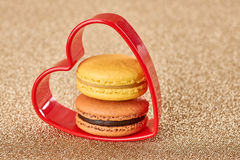 Valentines Day, Love. Heart.Macaron french dessert Royalty Free Stock Photography